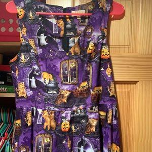 ModCloth Halloween scaredy-cat dress. Size large.